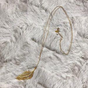 Gorjana gold leaf necklace